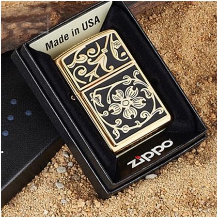 Bật lửa Zippo Mỹ hoa văn bông hoa - Mã SP: BLD: Z020