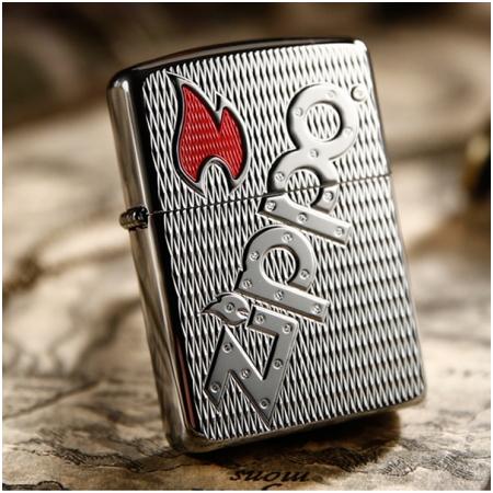 Bật lửa Zippo Mỹ khắc biểu tượng Zippo chéo - Mã SP: Z022