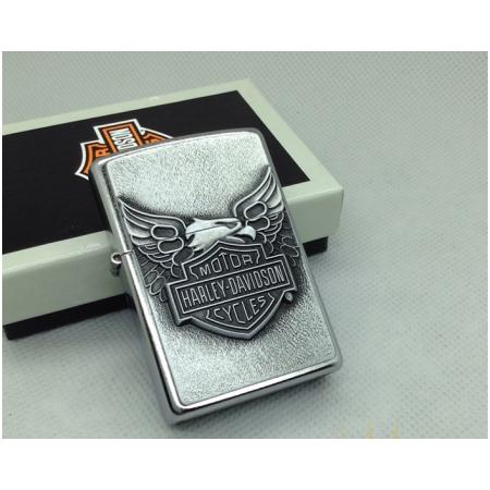 Bật lửa Zippo Mỹ màu trắng bóng khắc Logo Harley Davidson - Mã SP: Z025