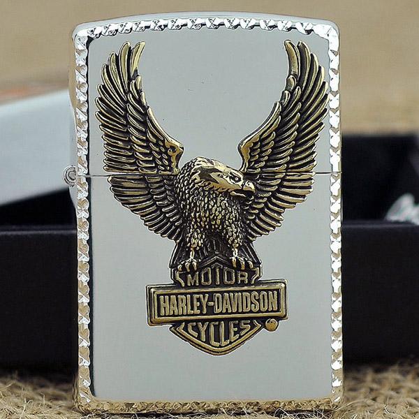 Bật lửa Zippo Mỹ khắc hình chim đại bàng - 0988 00 11 31