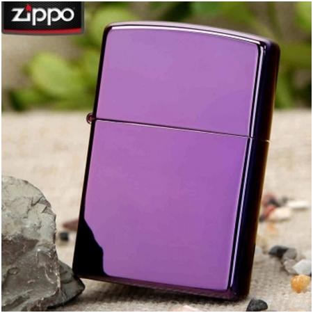 Bật lửa Zippo Mỹ màu tím - Mã SP: Z131