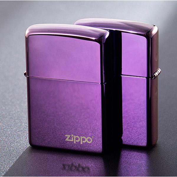 Bật lửa Zippo Mỹ màu tím khắc chữ Zippo - 0988 00 11 31