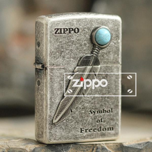 Bật lửa Zippo Mỹ khắc hình lông ngọc - 0988 00 11 31
