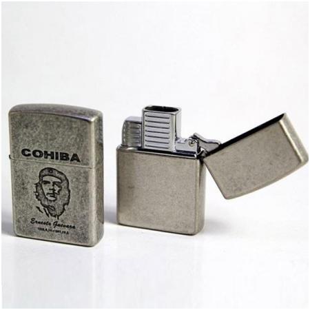 Bật lửa khò hút Cigar (xì gà) Cohiba chính hãng loại 2 tia lửa - Mã SP: COB51