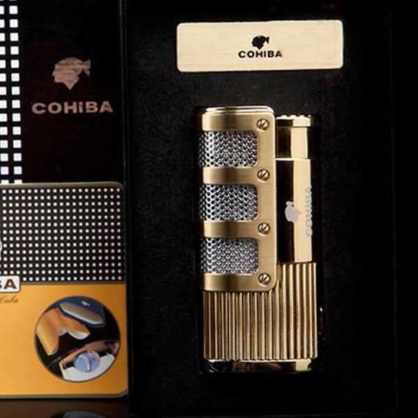 Bật lửa khò hút Cigar Cohiba chính hãng có thiết bị đục Cigar - 0988 00 11 31