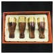 Bộ tẩu gỗ 4 size hút Cigar Cohiba Bộ tẩu bắt top xì gà - Mã SP: TC03