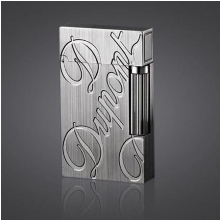 Bật lửa S.T.Dupont trắng bạc xước khắc logo S.T.dupont - Mã SP: BLD024