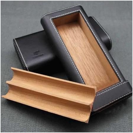 Bao da đựng Cigar (xì gà) chính hãng Cohiba loại 2 điếu - Mã SP: BLPH2115