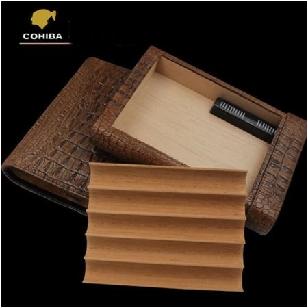 Bao da đựng Cigar (xì gà) chính hãng Cohiba loại 5 điếu - Mã SP: BLH511B