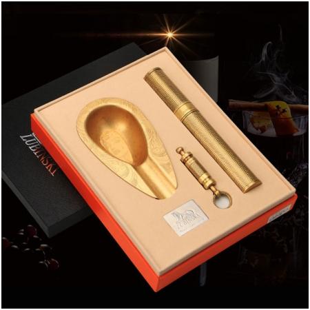 Set gạt tàn xì gà (Cigar), ống đựng xì gà (Cigar), đục xì gà Lubinski chính hãng- Mã SP: T24