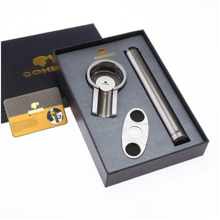 Set gạt tàn xì gà (Cigar), ống đựng xì gà, dao cắt xì gà Cohiba chính hãng - Mã SP: T301