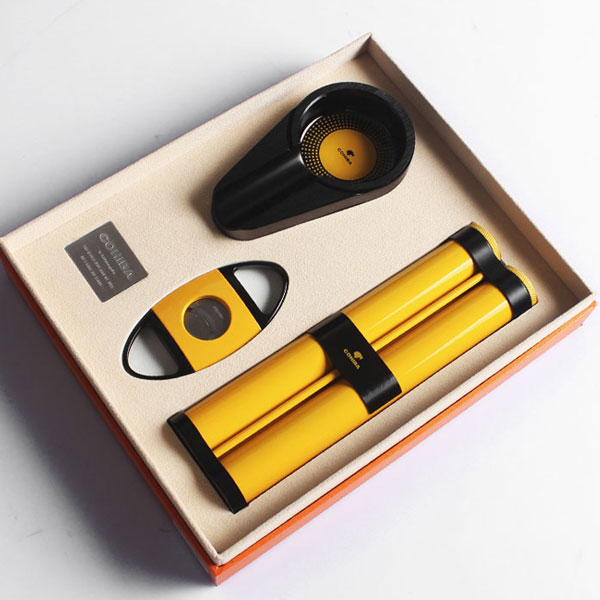 Set gạt tàn xì gà, ống đựng xì gà, dao cắt xì gà Cohiba cao cấp - 0988 00 11 31