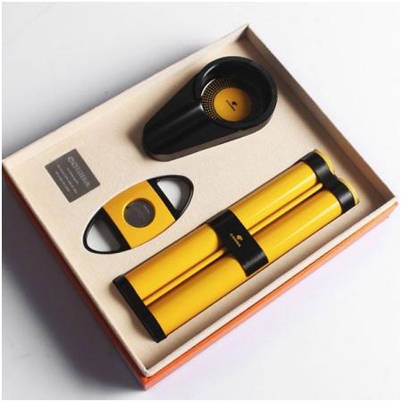 Set gạt tàn xì gà (Cigar), ống đựng xì gà, dao cắt xì gà Cohiba cao cấp - Mã SP: T306