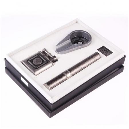 Set gạt tàn xì gà (Cigar), bật lửa xì gà, ống đựng xì gà Guevara - Mã SP: RAG6031