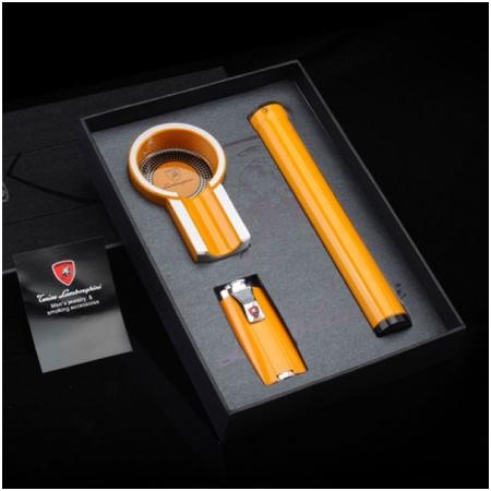 Set gạt tàn xì gà (Cigar), bật lửa xì gà, ống đựng xì gà Cohiba- Mã SP: T303