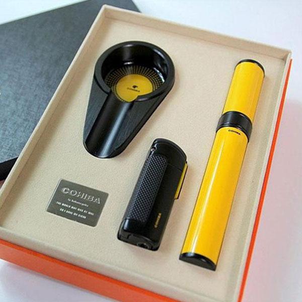 Set gạt tàn xì gà, bật lửa xì gà, ống đựng xì gà Cohiba - 0988 00 11 31