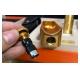 Set phụ kiện xì gà cao cấp: bật lửa hút xì gà, gạt tàn, bao da đựng bật lửa và gạt tàn chính hãng Lubinski YJA80010