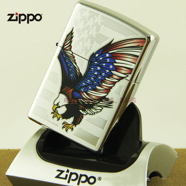 Bật lửa Zippo Mỹ in hình chim đại bàng màu cờ Mỹ - 0988 00 11 31