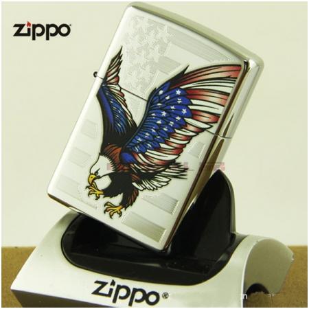 Bật lửa Zippo Mỹ in hình chim đại bàng màu cờ Mỹ - Mã SP: Z004