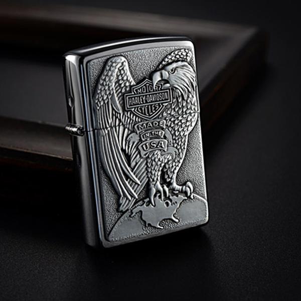 Bật lửa Zippo Mỹ khắc hình chim đại bàng - 0988 00 11 31- 0988 00 11 31