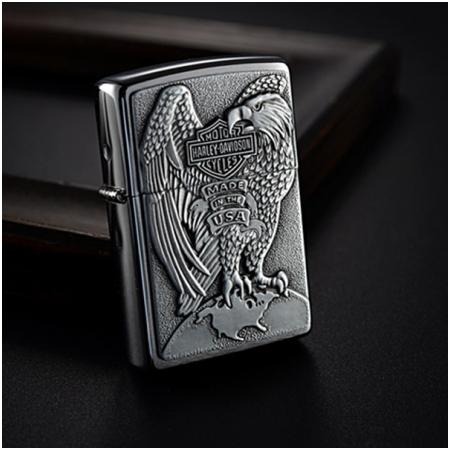 Bật lửa Zippo Mỹ khắc hình chim đại bàng - Mã SP: Z006