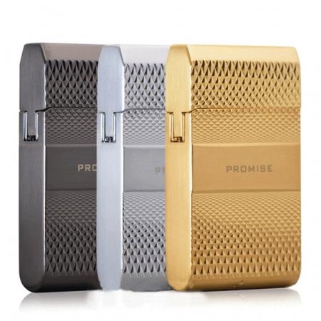 Bật lửa Promise siêu mỏng chính hãng vân kim cương - Mã SP: BLP009