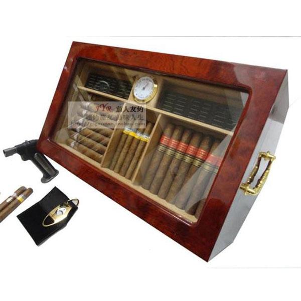Hộp giữ ẩm Cigar HSB OEM có đồng hồ đo độ ẩm chính hãng - 0988 00 11 31