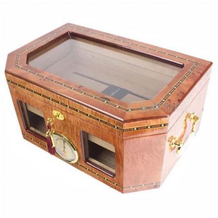 Hộp giữ ẩm Cigar (xì gà) Cohiba loại 80 điếu bằng gỗ tuyết tùng cao cấp- Mã SP: H612
