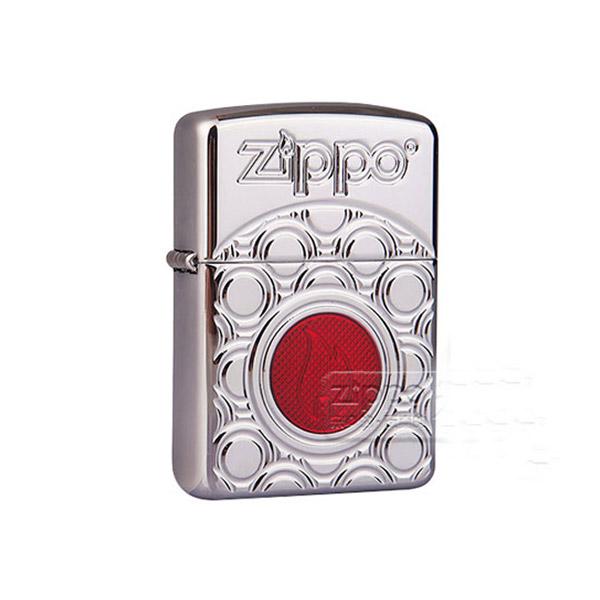 Bật lửa Zippo Mỹ khắc hình tròn ngọn lửa đỏ - 0988 00 11 31