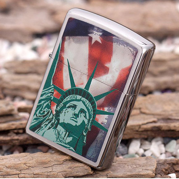 Bật lửa Zippo Mỹ in hình nữ thần tự do - 0988 00 11 31
