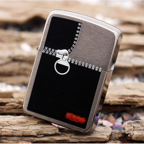 Bật lửa Zippo Mỹ in hình khóa kéo - 0988 00 11 31