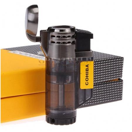 Bật lửa khò hút Cigar (xì gà) Cohiba chính hãng 3 tia lửa khò - Mã SP: COB373
