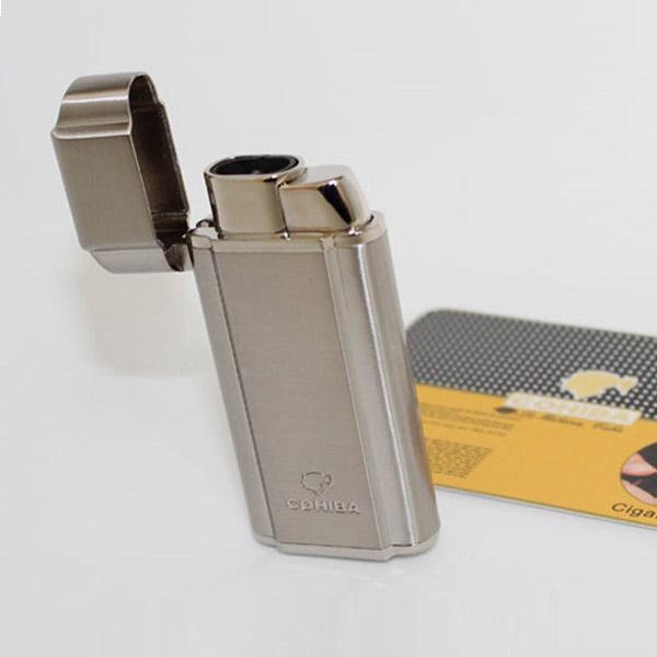 Bật lửa khò hút Cigar Cohiba 2 tia lửa có thiết bị đục Cigar - 0988 00 11 31