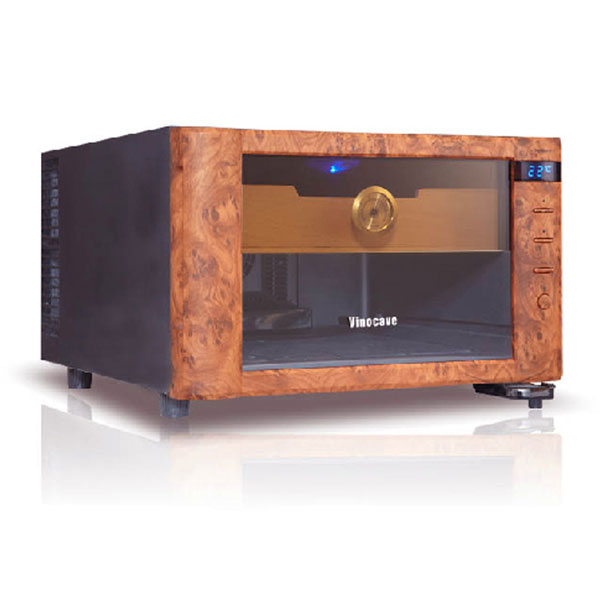 Tủ bảo quản giữ ẩm xì gà căm điện 2 tấng mini Vinocave - 0988001131