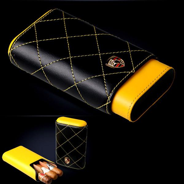Bao da đựng Cigar Cigarloong chính hãng loại 3 điếu - 0988001131