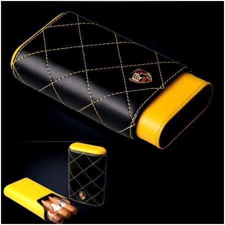 Bao da đựng Cigar (xì gà) Cigarloong chính hãng loại 3 điếu - Mã SP: 1004L