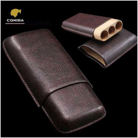 Bao da đựng Cigar (xì gà) Cohiba loại 3 điếu chính hãng - Mã SP: 5200A