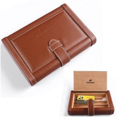 Bao da đựng Cigar (xì gà) Cohiba chính hãng loại 4 điếu - Mã SP: 0306B
