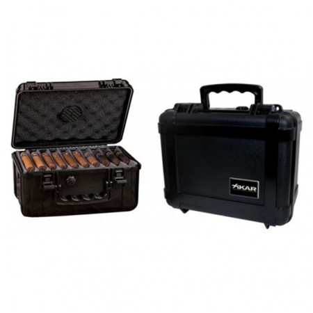 Hộp giữ ẩm Cigar (xì gà) Xikar màu đen kiểu vali- Mã SP: 280XL