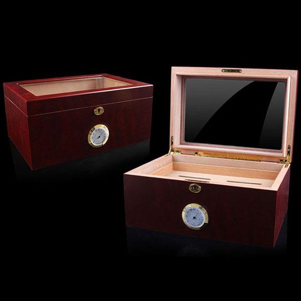 Hộp giữ ẩm Cigar Cohiba mặt kính có khóa cao cấp - 0988 00 11 31