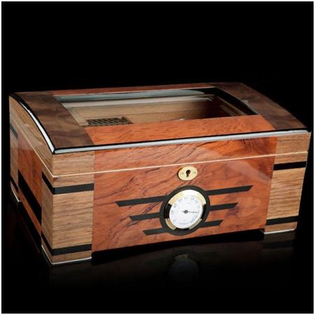 Hộp giữ ẩm Cigar (xì gà) Trinidad loại 100 điếu có khóa - Mã SP: T001