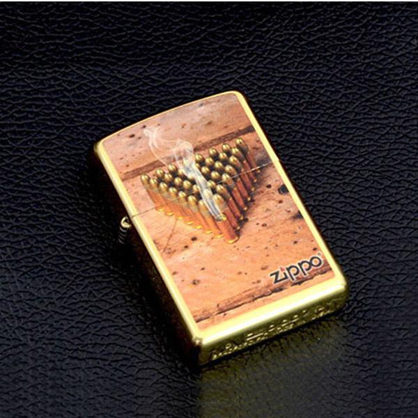 Bật lửa Zippo Mỹ màu đồng in hình viên đạn - 0988 00 11 31