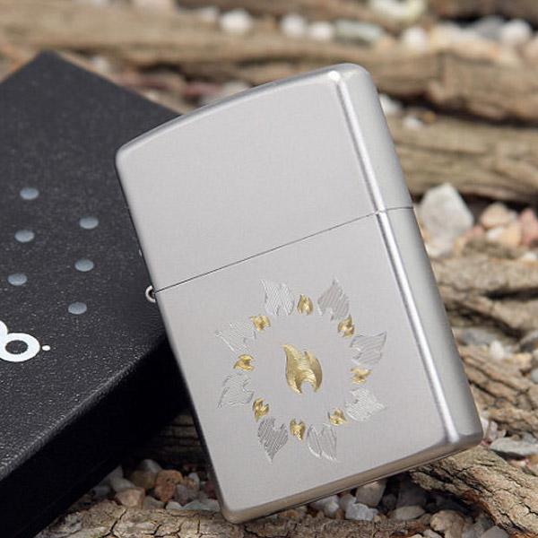 Bật lửa Zippo Mỹ khắc hình vòng lửa bạc - 0988 00 11 31