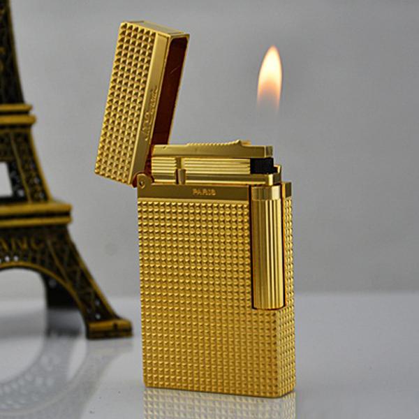 Bật lửa S.T.Dupont vàng kẻ caro nhỏ - 0988 00 11 31