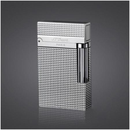 Bật lửa S.T.Dupont bạc kẻ caro nhỏ - Mã SP: BLD029
