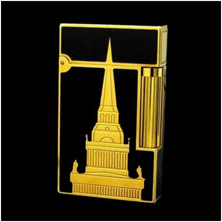 Bật lửa S.T.Dupont sơn mài kim tự tháp viền vàng - Mã SP: BLD031