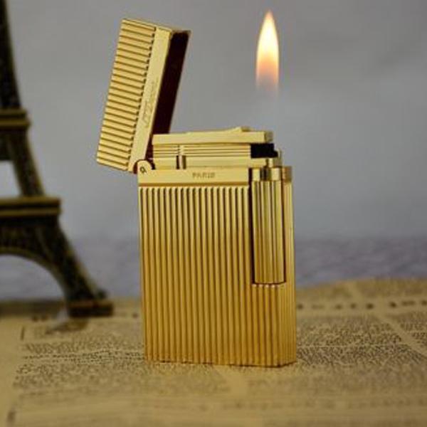Bật lửa S.T.Dupont vàng sọc đứng - 0988 00 11 31
