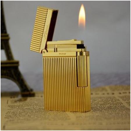 Bật lửa S.T.Dupont vàng sọc đứng - Mã SP: BLD034