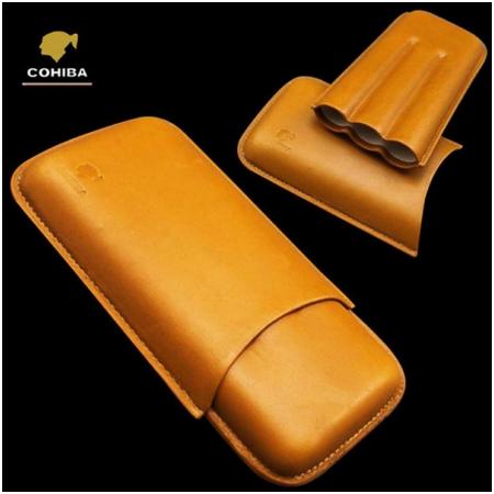 Bao da đựng Cigar (xì gà) Cohiba chính hãng loại 3 điếu - Mã SP: 1306L