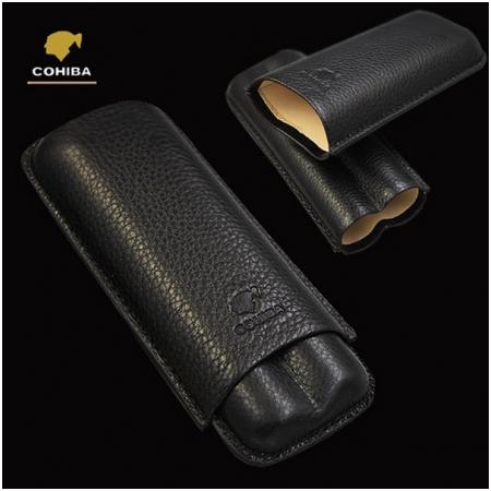 Bao da đựng Cigar (xì gà) Cohiba chính hãng loại 2 điếu - Mã SP: 1202A